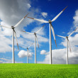 Wind turbines farm — Stock Photo #13253908