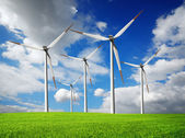 Wind turbines farm — Stockfoto