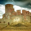 Medieval castle on the top — Stock Photo
