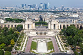 View on Paris from the Eiffel Tower — Stock Photo
