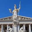 Stock Photo: Athenin front of AustriParliament in Vienna