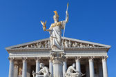Athena in front of the Austrian Parliament in Vienna — Stock Photo