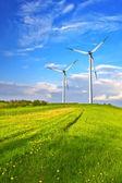 Turbina de viento de la montaña — Foto de Stock