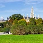 zielony parku — Zdjęcie stockowe