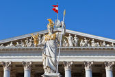 The sculpture is on the front side of the Austrian parliament building — Stock Photo