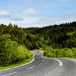A winding mountain road — Stock Photo
