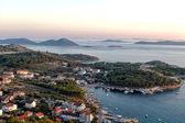 Adriatic coast at sunset — Stock Photo
