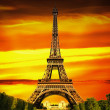 Fantastic Eiffel Tower in Paris — Stock Photo