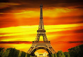 Fantastic Eiffel Tower in Paris — Stok fotoğraf