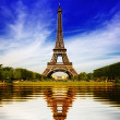 Eiffel Tower in Paris abstract reflection — Stock Photo #14272161