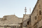 The walls of the Basilica of Nativity in Bethlehem — Stock Photo