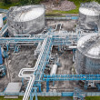 Royalty-Free Stock Photo: Gas and oil industrial from aerial view