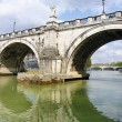 Stock Photo: Bridge over the Tiber River in Rome