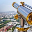 Eiffel Tower telescope - Stock Photo