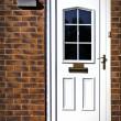 Anglická přední dveře — Stock fotografie