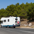 Camper on the road — Stock Photo