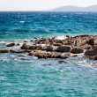 Stock Photo: Blue sea and rocky island
