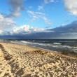 Seaside sandy beach — Stock Photo