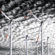 Stock Photo: Wind power background
