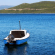 Motorboat in the bay - Stock Photo