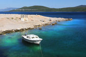 Adriatic sea croatia coast — 图库照片