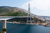 Bridge and port in Dubrovnik — Stock Photo
