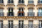 Parisian balconies — Stock Photo