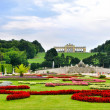Gardens at Schonbrunn Palace Vienna - Stock Photo