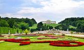 Trädgårdar på schonbrunn palace wien — Stockfoto