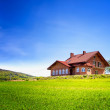 New house in the mountains — Stock Photo #19526465