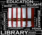 Koncepcja edukacji w chmury tagów — Zdjęcie stockowe