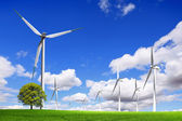 Energy wind turbines — Stock Photo