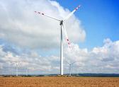 Tall wind turbines — Stock Photo