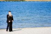 Couples on the beach — Stock Photo