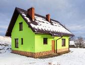 House in winter scenery — Stock Photo