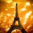The Eiffel Tower in Paris — Stock Photo