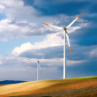 Global wind energy - Stock Photo