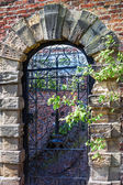 Old english garden gate — Stock Photo