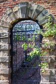 Old english garden gate — Stock Photo