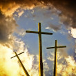 Crucifixion darkness — Stock Photo