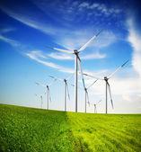 Wind turbines farm — Stockfoto