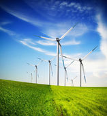 Windturbines boerderij — Stockfoto