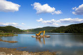 Dredging lake — Stock Photo
