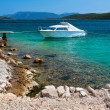 Picturesque scene of rocky adriatic beach — Stock Photo #30888431