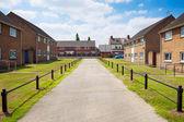 Casas em um típico inglês imóveis residenciais — Foto Stock