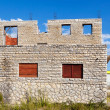 Stock Photo: New house overlooking MediterraneSea