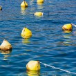 Yellow anchor buoy — Stock Photo
