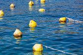 Yellow anchor buoy — Stock Photo