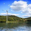 Island wind farm — Stock Photo