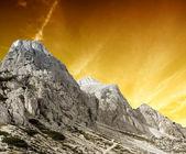 High Mountain Sunset — Stock Photo